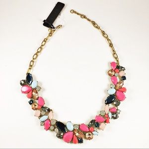 🌟NWT J.Crew Pink, Navy, & Nude Statement Necklace